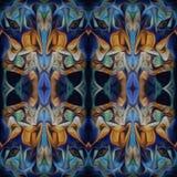 Modello di alta risoluzione senza cuciture Colourful ornamentale in arancio ed in blu illustrazione vettoriale