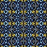 Modello di alta risoluzione senza cuciture Colourful ornamentale in blu e nel giallo illustrazione di stock