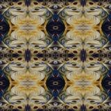 Modello di alta risoluzione senza cuciture Colourful ornamentale in giallo ed in blu illustrazione vettoriale