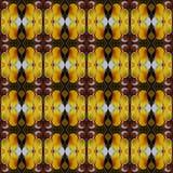 Modello di alta risoluzione senza cuciture Colourful ornamentale nel giallo, nel rosso e nel bianco illustrazione di stock