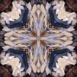 Modello di alta risoluzione senza cuciture Colourful ornamentale nel marrone blu e caldo royalty illustrazione gratis