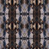 Modello di alta risoluzione senza cuciture Colourful ornamentale nel marrone blu e caldo illustrazione vettoriale