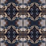 Modello di alta risoluzione senza cuciture Colourful ornamentale nel marrone blu e caldo illustrazione di stock