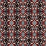 Modello di alta risoluzione senza cuciture Colourful ornamentale nel rosso illustrazione di stock