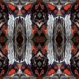 Modello di alta risoluzione senza cuciture Colourful ornamentale nel rosso, nel bianco e nella porpora illustrazione vettoriale