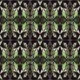 Modello di alta risoluzione senza cuciture Colourful ornamentale in verde ed in bianco illustrazione vettoriale