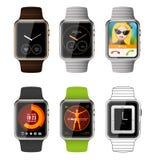 Modello di applicazione per smartwatch illustrazione di stock