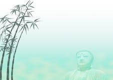 Modello di bambù di paesaggio del Buddha Fotografia Stock