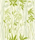 Modello di di bambù invaso su un fondo leggero Fotografie Stock Libere da Diritti