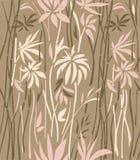 Modello di di bambù invaso su un fondo marrone Fotografie Stock Libere da Diritti