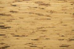 Modello di bambù di legno del recinto e fondo senza cuciture fotografia stock