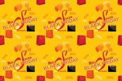 Modello di Black Friday con i sacchetti della spesa, per la stampa Immagine Stock Libera da Diritti