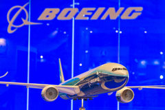 Modello di Boeing 777 Immagine Stock