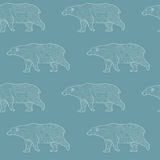 Modello di camminata di contorno degli orsi polari Fotografie Stock