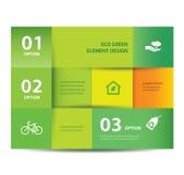 Modello di carta dell'elemento di eco e di progettazione di numeri. Illustrazione di vettore. Opzioni di Infographics. Immagini Stock