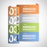 Modello di carta di opzioni Immagine Stock