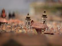 Modello di carta di Praga fotografie stock libere da diritti