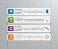 Modello di carta di progettazione di infographics del nastro Fotografie Stock