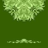 Modello di carta di vettore su fondo verde Immagine Stock