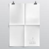 Modello di carta piegato Immagini Stock