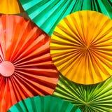 Modello di carta piegato colorato Immagini Stock