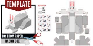 Modello di carta di progettazione dalla lepre della carta illustrazione di stock