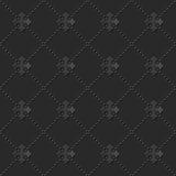 Modello di carta scuro elegante senza cuciture 102 Dot Cross Line di arte 3D Fotografie Stock