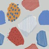 Modello di carta senza cuciture delle bacche astratte contemporanee del collage royalty illustrazione gratis