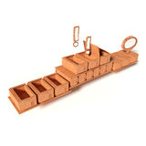 Modello di cartone con la catena di montaggio Fotografia Stock Libera da Diritti