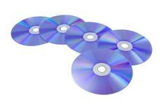 Modello di CD/DVD su fondo bianco isolato Immagine Stock Libera da Diritti