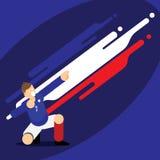 Modello di celebrazione della limanda del calciatore della Francia Immagine Stock