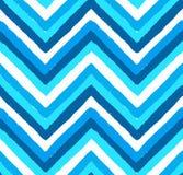 Modello di Chevron dipinto blu Fotografia Stock