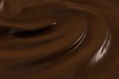 Modello di cioccolato fuso Immagini Stock Libere da Diritti