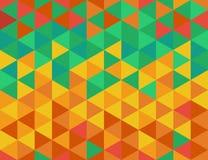 Modello di colore dei triangoli Fotografia Stock