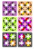 Modello di colore del cuore fotografie stock libere da diritti