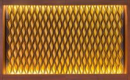 modello di colore dell'oro del rullo di alluminio nel telaio di legno Fotografia Stock Libera da Diritti