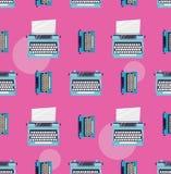 Modello di colore della macchina da scrivere Fotografia Stock Libera da Diritti