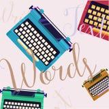 Modello di colore della macchina da scrivere Immagini Stock Libere da Diritti