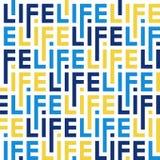 Modello di colore delle lettere della vita di parola illustrazione di stock