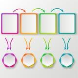Modello di colore per web design Fotografia Stock Libera da Diritti