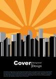 Modello di concetto della città della copertina di libro Fotografia Stock Libera da Diritti