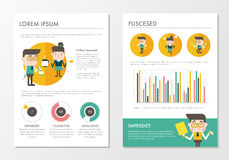 Modello di concetto di affari Grafico Infographic del lavoratore di affari Fotografia Stock Libera da Diritti