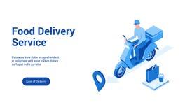 Modello 2 di consegna 3d dell'alimento illustrazione vettoriale