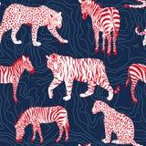 Modello di contorno degli animali selvatici Fotografia Stock
