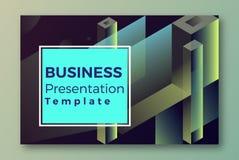 Modello di copertura isometrico di presentazione di web illustrazione di stock