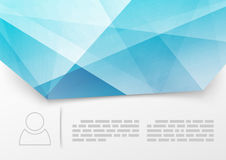 Modello di cristallo blu moderno del libretto della stampa Fotografia Stock