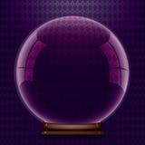 Modello di cristallo del globo. Fotografia Stock