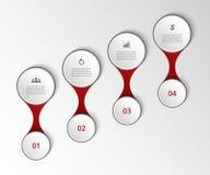 Modello di cronologia Fotografia Stock