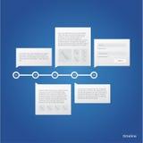 Modello di cronologia di vettore. Immagini Stock Libere da Diritti