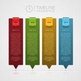 Modello di cronologia di vettore Infographics Fotografie Stock Libere da Diritti